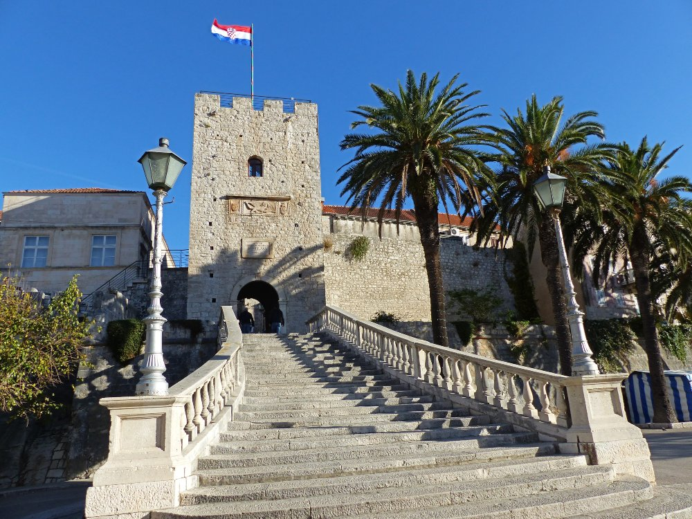 Explore the Old Town during a day trip to Korcula