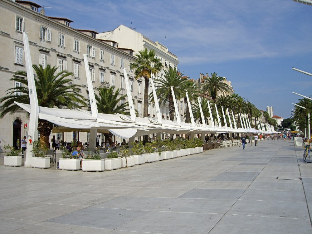 Day trip to Split from Korcula - Enjoy a coffee on the Riva