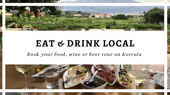 Eat & Drink Local on Korcula during a tour